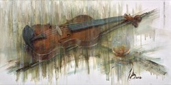 Violin Decorum by Remi LaBarre -  sized 30x15 inches. Available from Whitewall Galleries